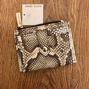 Anne Klein Snakeskin Wallet/Card Holder NWT